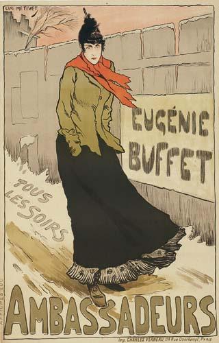 LUCIEN METIVET (1863-1932) EUGENIE BUFFET / AMBASSADEURS. 1893.