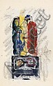 HANS BURKHARDT Sketchbook with 59 mixed-media drawings., Hans Gustav Burkhardt, Click for value
