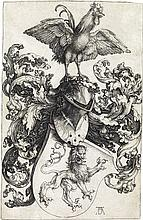 ALBRECHT DÜRER Coat of Arms with a Lion and a Cock.