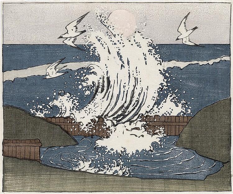 BROR J. O. NORDFELDT The Wave, Moonrise.