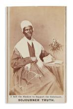 (SLAVERY AND ABOLITION.) Carte-de-visite portrait of Sojourner Truth.