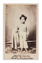 (SLAVERY AND ABOLITION.) Biffar, H.W.; photographer. Carte-de-visite of Samuel R. Curtis,