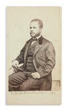 (AFRICA.) Loomis, G.H.; photographer. Carte-de-visite of an agent in Liberia for the American Colonization Society.