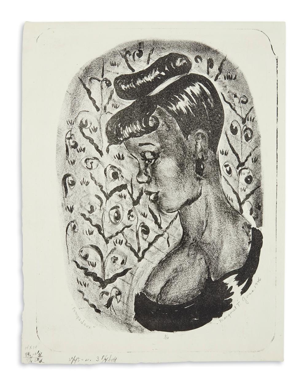 (ART.) Burroughs, Margaret; artist. Pompadour.
