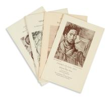 (ART.) Group of exhibit catalogues and portfolios, including 4 of the early Harmon Foundation catalogues.