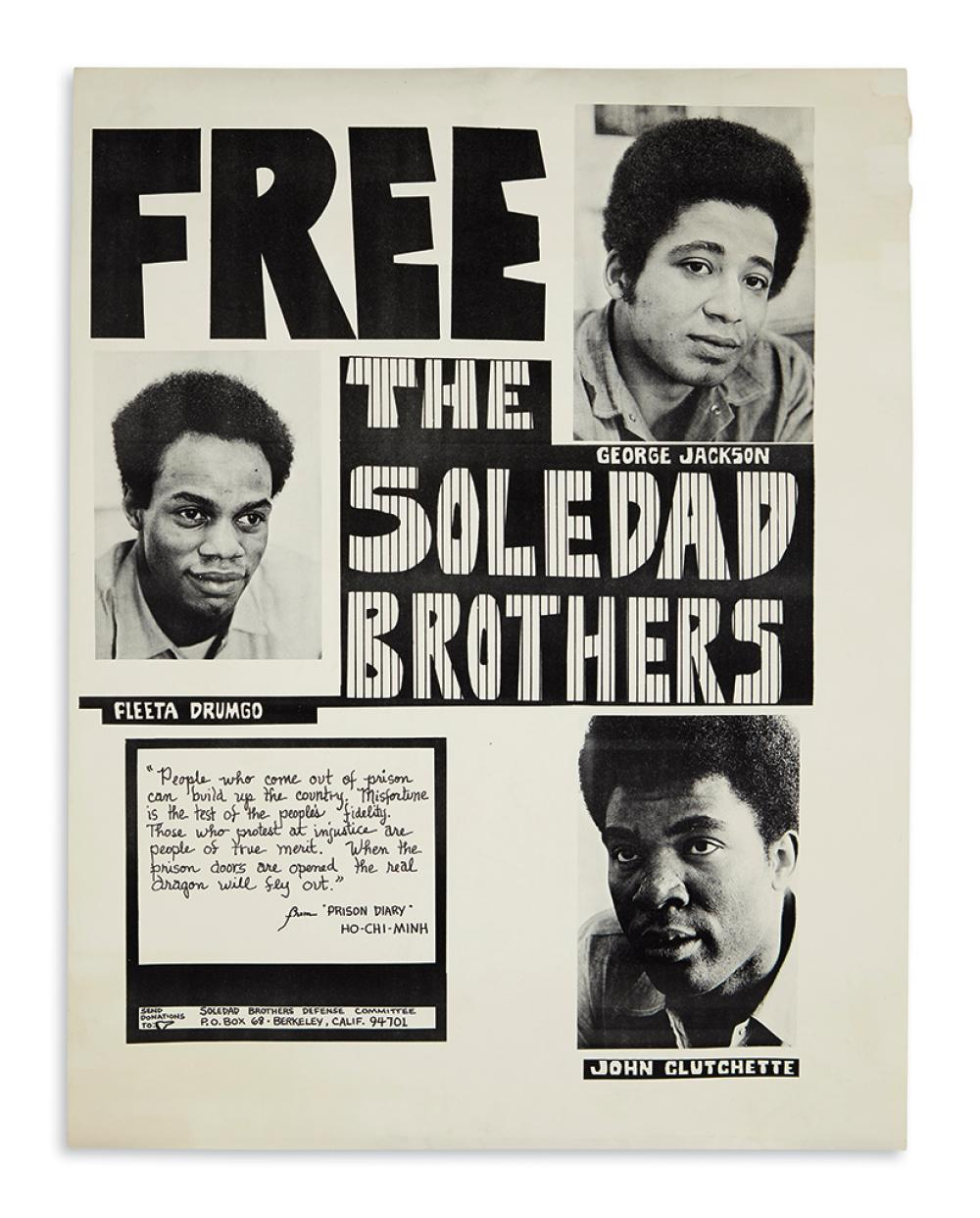 (BLACK PANTHERS.) Free the Soledad Brothers.