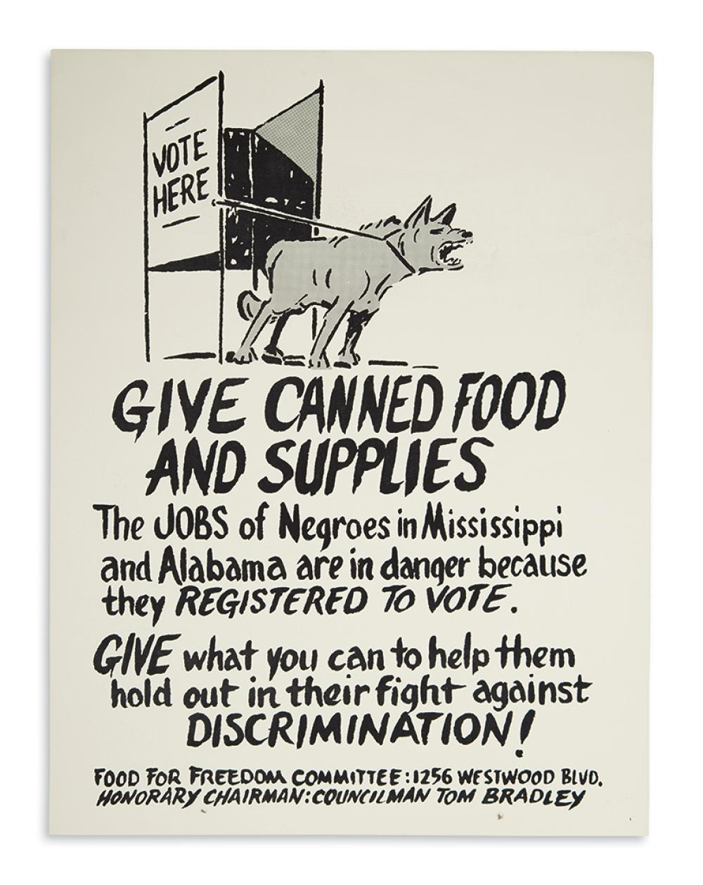 (CIVIL RIGHTS.) Give Canned Food and Supplies.