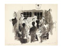 (CIVIL RIGHTS.) Sugarman, Tracy. Group of original illustration art from his book