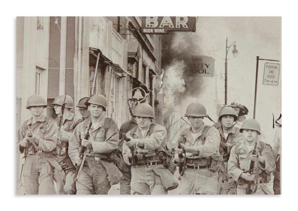 (CIVIL RIGHTS.) Group of press photos of the 1967 Detroit riots.