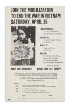 (KING, MARTIN LUTHER, JR.) Flier for an anti-war speech by Martin Luther King and Stokely Carmichael.