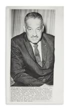 (LAW.) Press photos of Supreme Court justices Thurgood Marshall and Clarence Thomas.