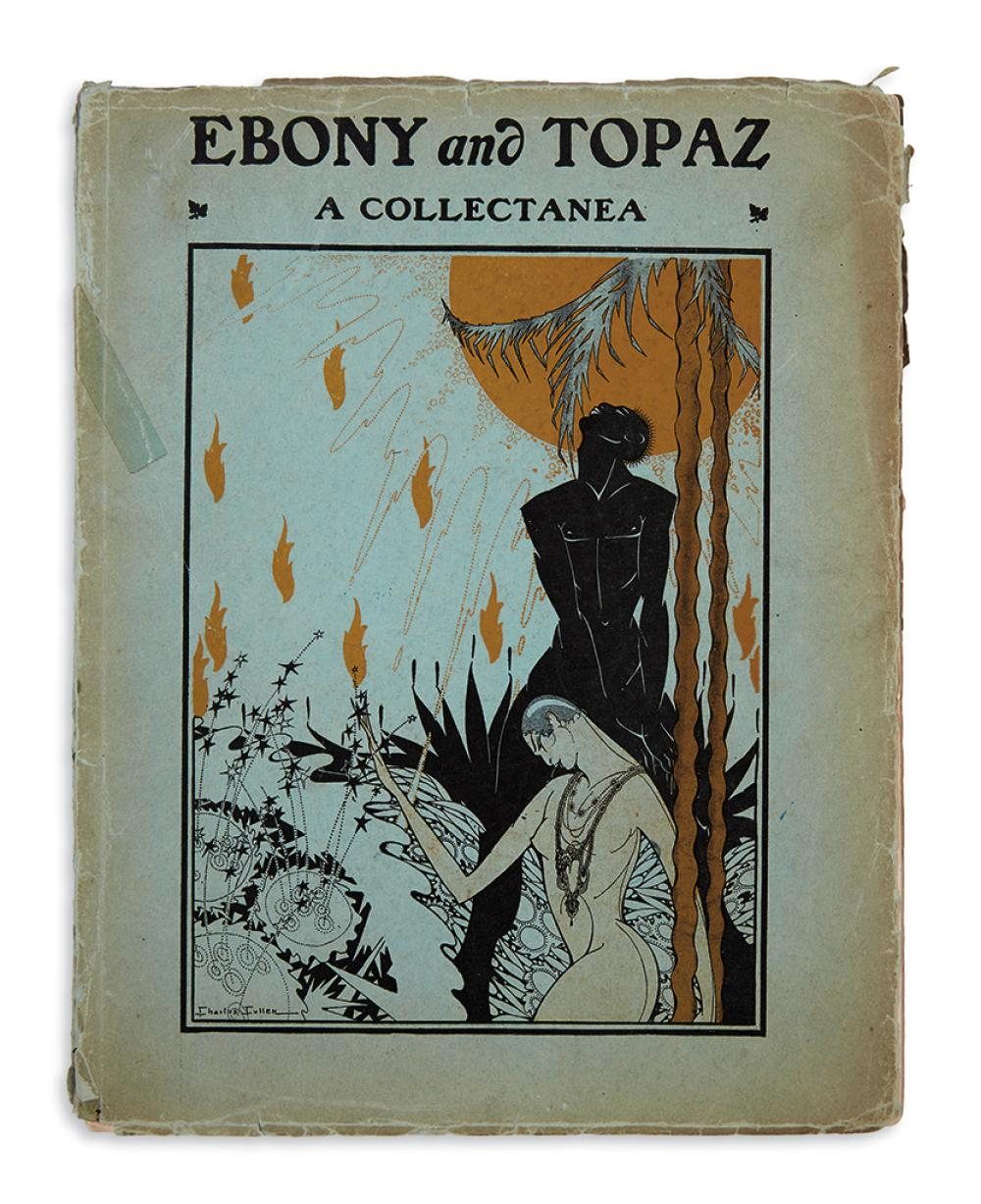 (LITERATURE.) Johnson, Charles S.; editor. Ebony and Topaz, a Collectanea.