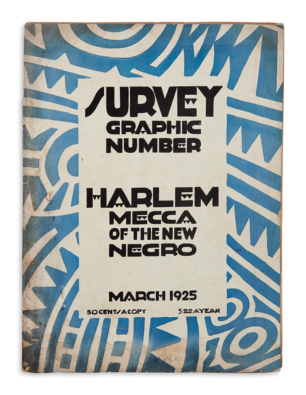 (LITERATURE.) Survey Graphic Number: Harlem, Mecca of the New Negro.
