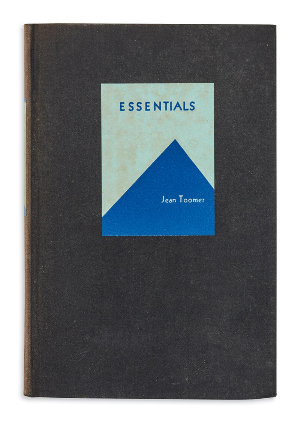 (LITERATURE.) Toomer, Jean. Essentials: Definitions and Aphorisms.
