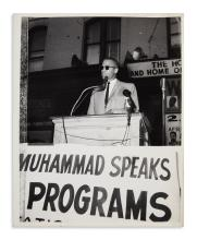 (MALCOLM X.) Pair of Malcolm X photographs.