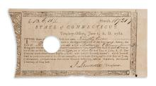 (MILITARY--AMERICAN REVOLUTION.) Pay bond issued to African-American soldier Timothy Cesar.