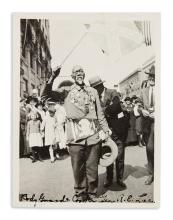 (MILITARY--CIVIL WAR.) Photograph of William Mack Lee, self-proclaimed servant of Robert E. Lee, at a Confederate parade.