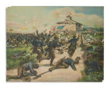 (MILITARY--SPANISH AMERICAN WAR.) Charge of the Colored Troops--San Juan.