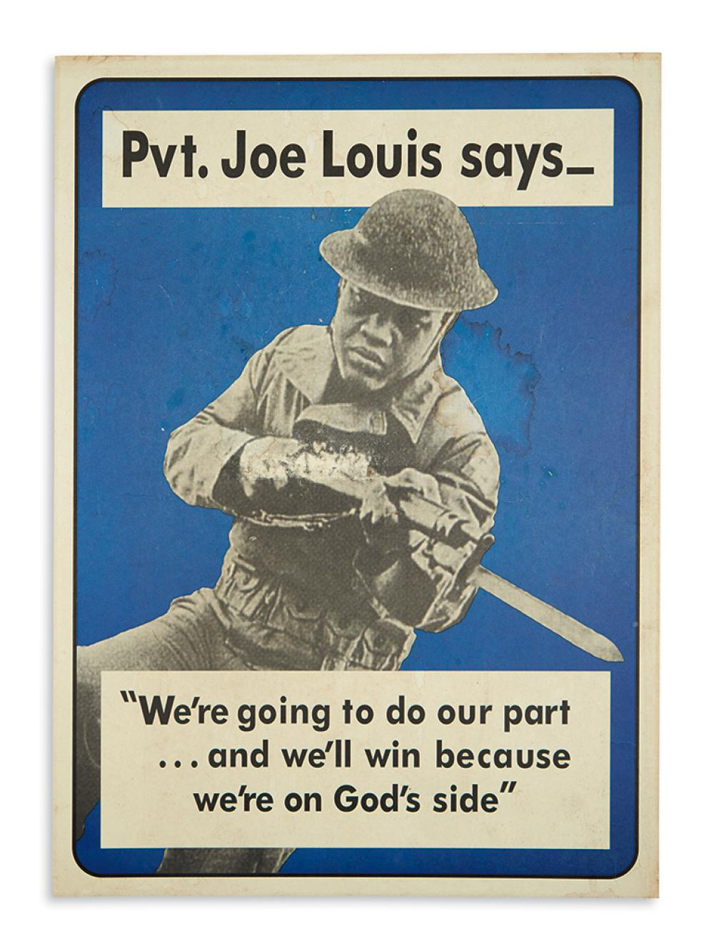 (MILITARY--WORLD WAR TWO.) Pvt. Joe Louis says