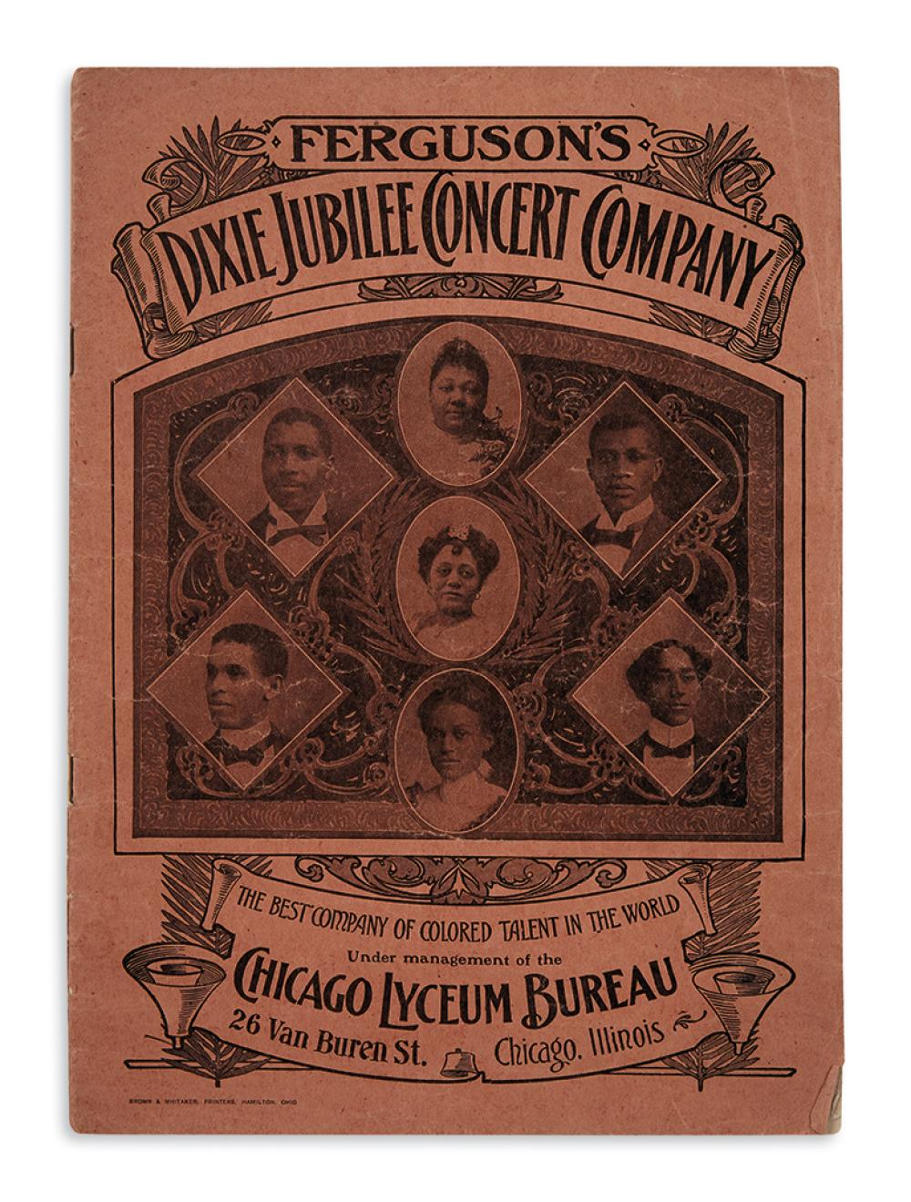 (MUSIC.) Ferguson's Dixie Jubilee Concert Company, the Best Company of Colored Talent in the World.
