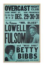 (MUSIC.) Overcast Night Club . . . In Person, Mr. Blues Lowell Fulsom and