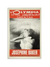 (MUSIC.) Poster for Josephine Baker's comeback performance at l'Olympia in Paris.