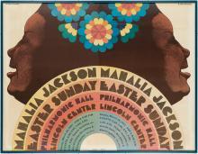 (MUSIC.) Glaser, Milton; artist. Mahalia Jackson, Easter Sunday, Philharmonic Hall, Lincoln Center.