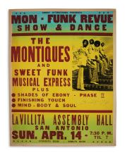 (MUSIC.) Ebony Attractions presents the Montiques and Sweet Funk Musical Express.