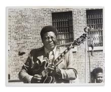 (MUSIC.) Sheard, Chester. Pair of photographs of blues greats B.B. King and Howlin' Wolf.