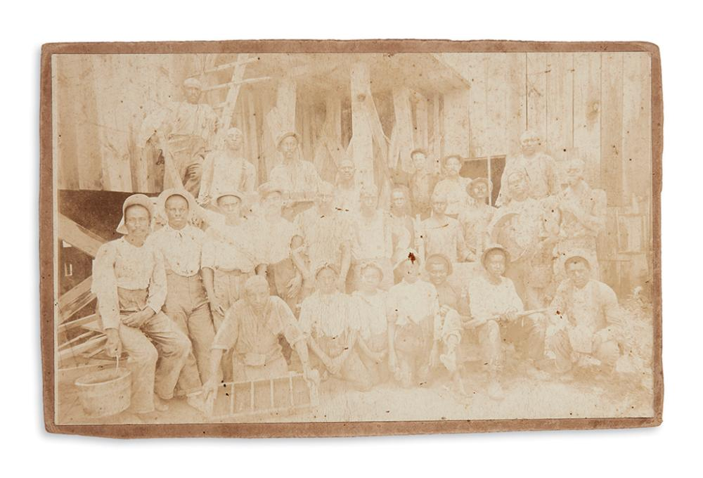 (PHOTOGRAPHY.) Photograph of an African-American mining crew.