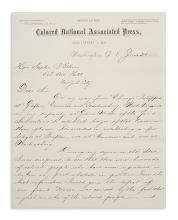 (POLITICS.) Murrell, William. Letter offering to