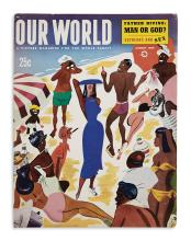 (PUBLISHING.) Group of 3 point-of-purchase display posters for African-American magazines.