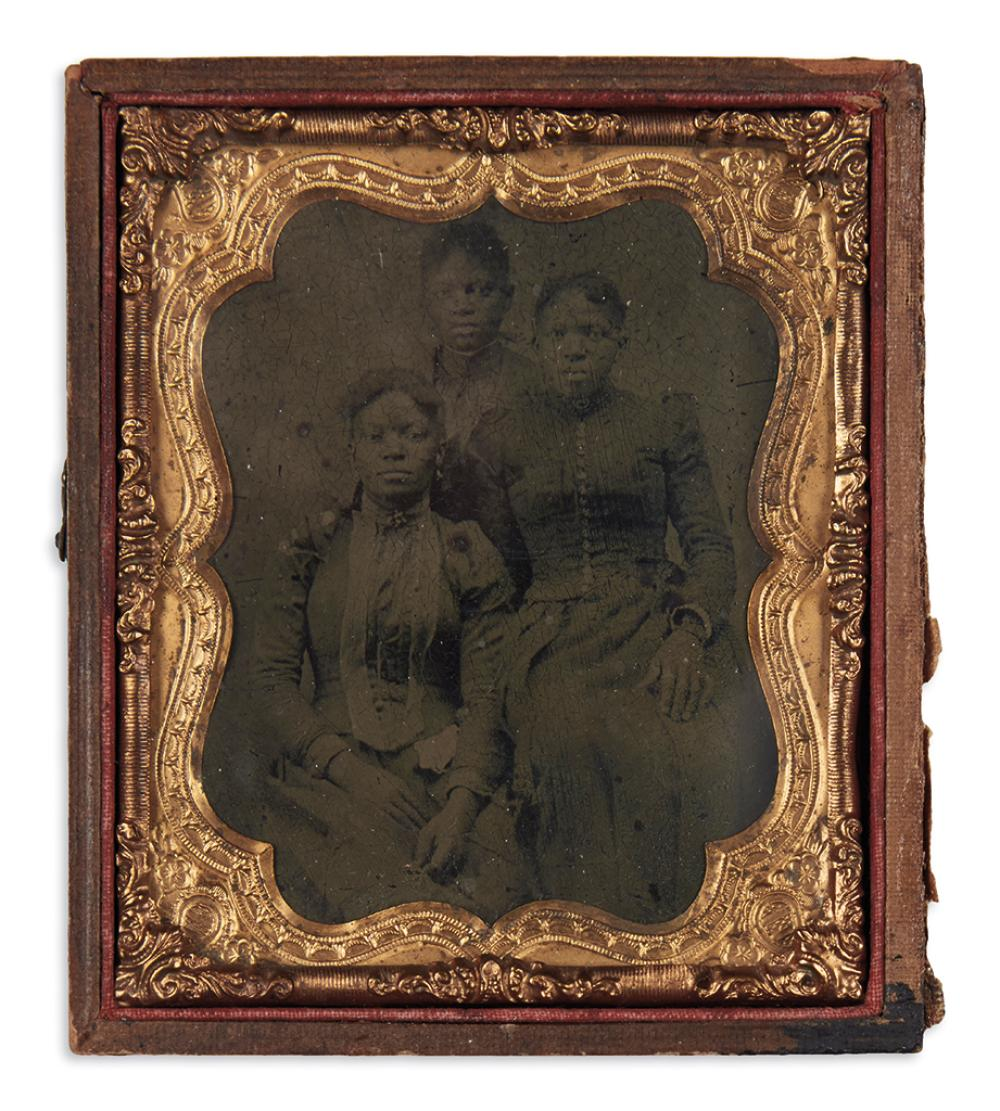 (RECONSTRUCTION.) Photograph of three Virginia freedwomen.