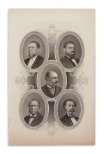 (RECONSTRUCTION.) [Wellstood, William, engraver]. Engraved portrait of African-American members of Reconstruction Congresses.