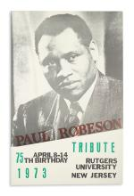 (ROBESON, PAUL.) Paul Robeson Tribute, 75th Birthday.