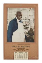 (SCIENCE.) George Washington Carver calendar issued shortly before his death.