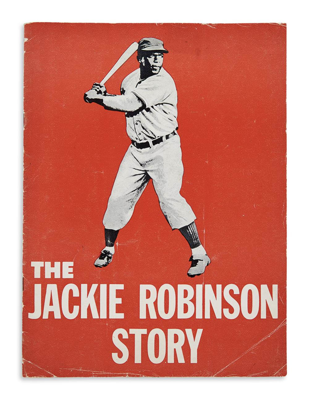 (SPORTS--BASEBALL.) Group of 8 items relating to the 1950 film The Jackie Robinson Story.
