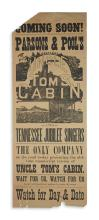 (THEATER.) Coming Soon! Parsons & Pool's Original Uncle Tom's Cabin.