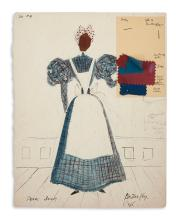 (THEATER.) Ayers, Lemuel; artist. Costume design for Pearl Bailey as Butterfly in St. Louis Woman.