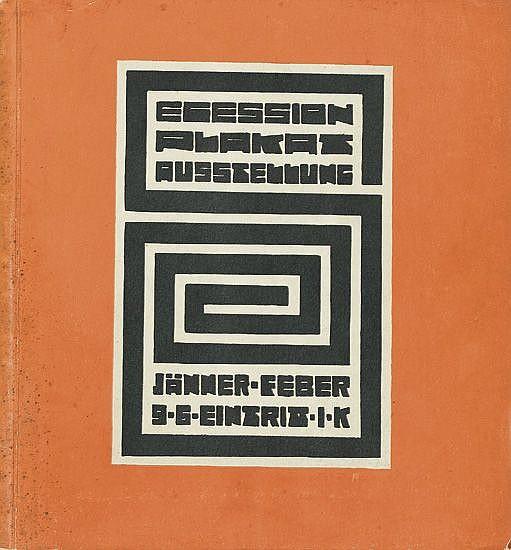 RICHARD HARLFINGER (1873-1948). SECESSION PLAKAT AUSSTELLUNG. Catalogue for the exhibition. 1912. 7x7 inches, 20x18 cm. Frisch, Vienna.