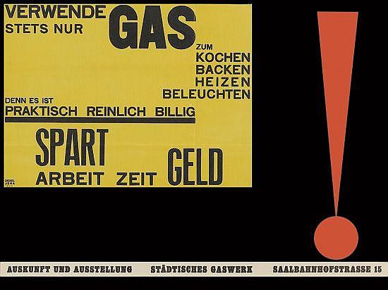 WALTER DEXEL (1890-1973). VERWENDE STETS NUR GAS. 1924. 19x25 inches, 48x63 cm.