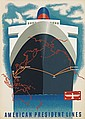 LOUIS MACOUILLARD (1913-1987). AMERICAN PRESIDENT LINES. Circa 1950. 40x28 inches, 102x71 cm.