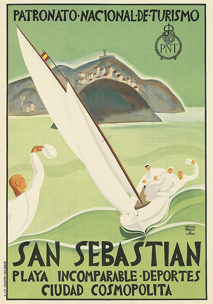 HIPOLITO HIDALGO DE CAVIEDES (1902-1996). SAN SEBASTIAN. 1925. 39x27 inches, 99x69 cm. Matev, Madrid.