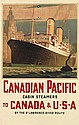 ODIN ROSENVINGE (1880-1957). CANADIAN PACIFIC / TO CANADA & U • S • A. Circa 1935. 40x25 inches, 101x63 cm.