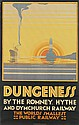 N. CRAMER ROBERTS (DATES UNKNOWN). DUNGENESS / BY THE ROMNEY, HYTHE AND DYMCHURCH RAILWAY. 1928. 39x25 inches, 101x63 cm. Vincent, Broo