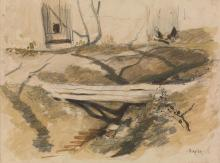 LOUIS-ADOLPHE HERVIER (Paris 1818-1879 Paris) Three drawings.