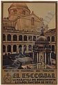 RAFAEL DE PENAGOS ZALABARDO (1889-1954) EL ESCORIAL. 1926. 41x27 inches. Talleres Voluntad, Madrid., Rafael
