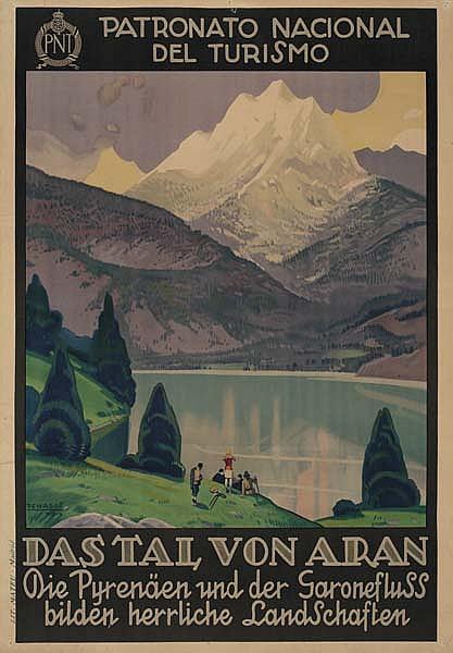 RAFAEL DE PENAGOS ZALABARDO (1889-1954) DAS TAL VON ARAN. 1929. 39x27 inches. Mateu, Madrid.