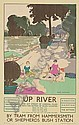 GEORGE SHERINGHAM (1884-1937) UP RIVER. 1926. 39x25 inches. Vincent Brooks, Day & Son Ltd., London., George Sheringham, Click for value
