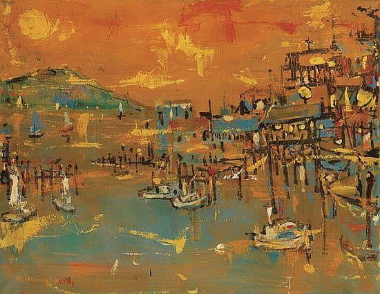 ALVIN CARL HOLLINGSWORTH (1928 - 2000) Seascape.
